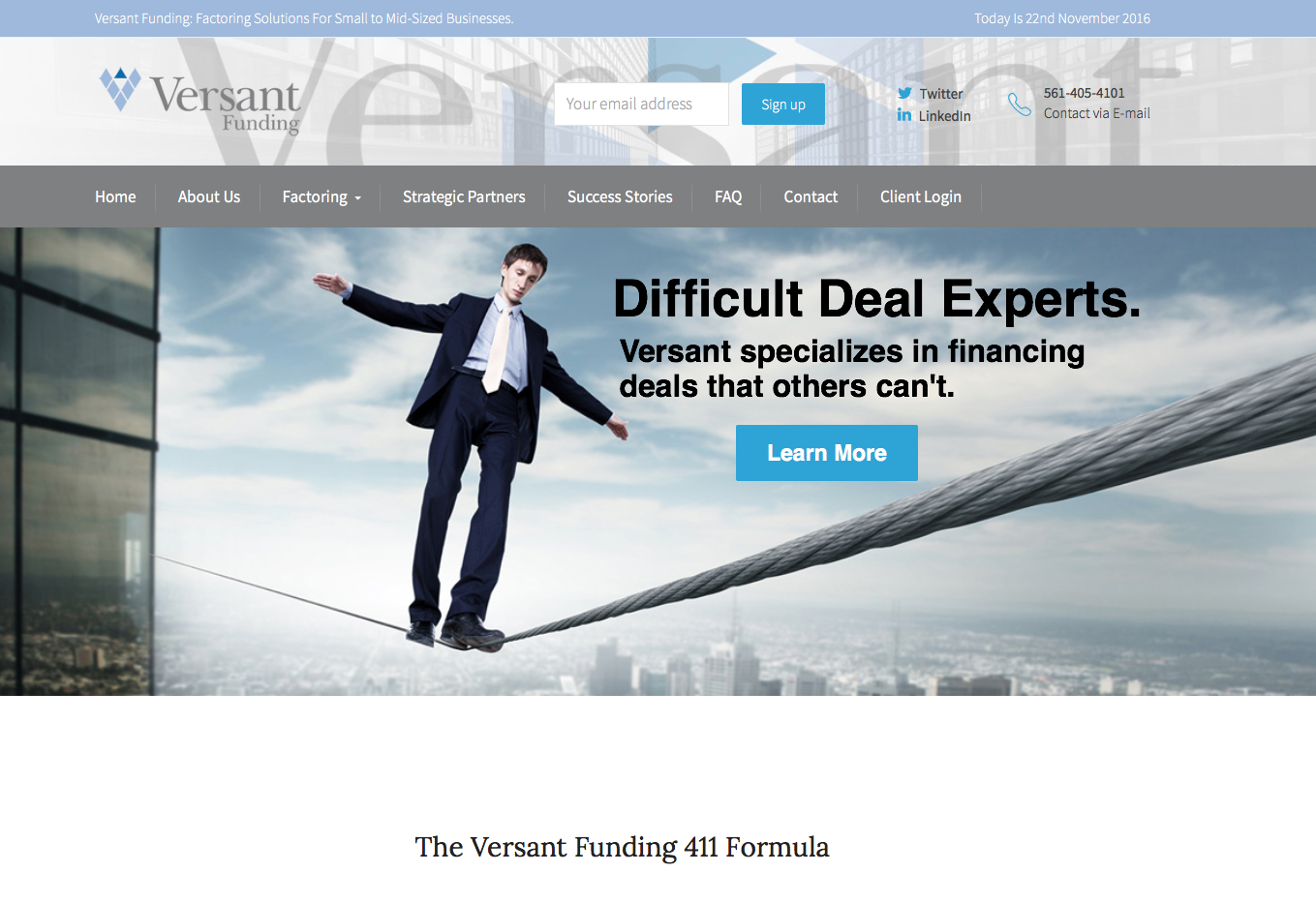 Website – Versant Funding